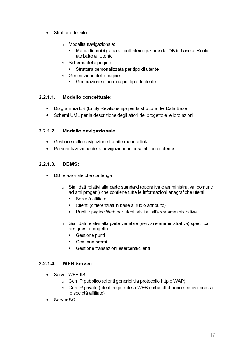 Anteprima della tesi: Ecocity: un sito per la ''fidelizzazione'' di clienti, Pagina 9