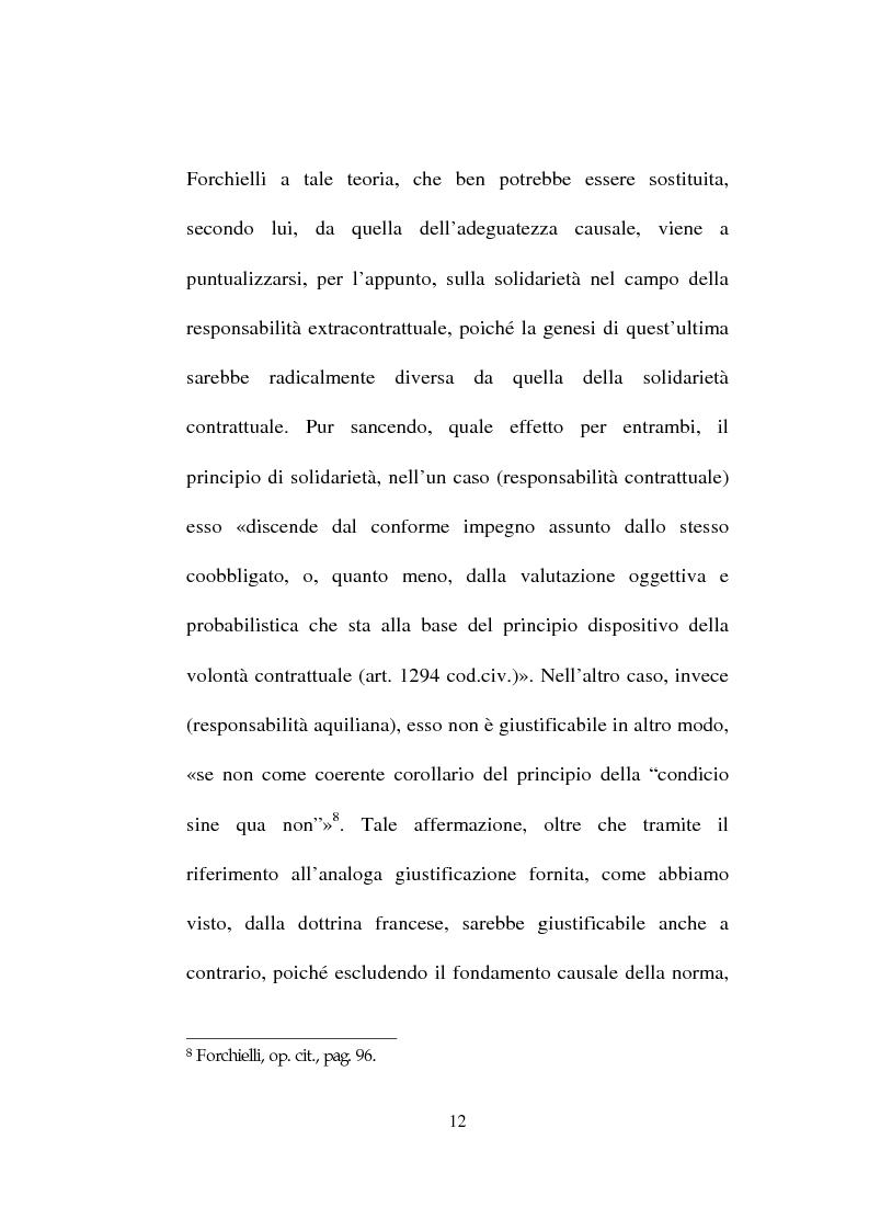 Anteprima della tesi: La responsabilità solidale per fatto illecito, Pagina 10