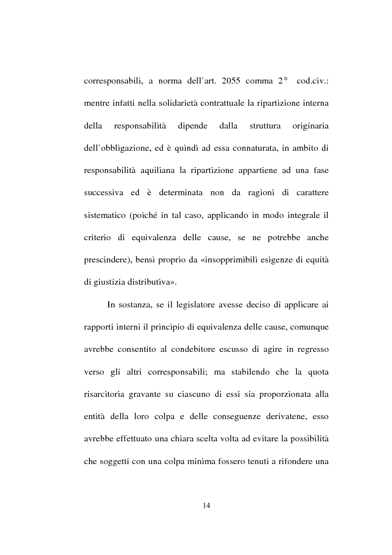 Anteprima della tesi: La responsabilità solidale per fatto illecito, Pagina 12