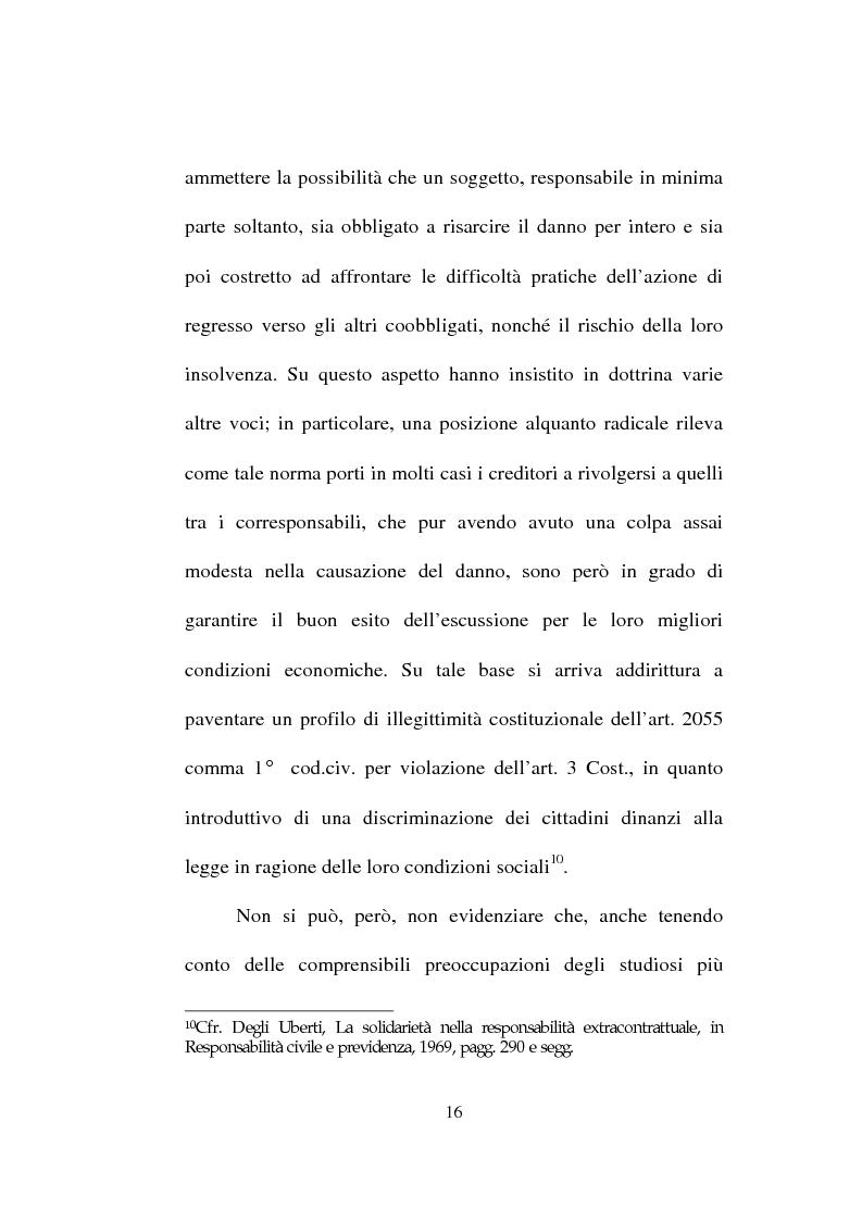 Anteprima della tesi: La responsabilità solidale per fatto illecito, Pagina 14