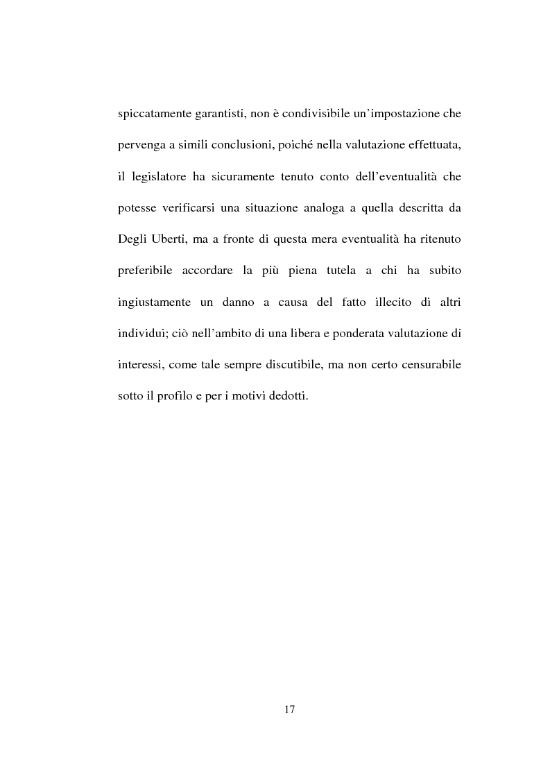 Anteprima della tesi: La responsabilità solidale per fatto illecito, Pagina 15