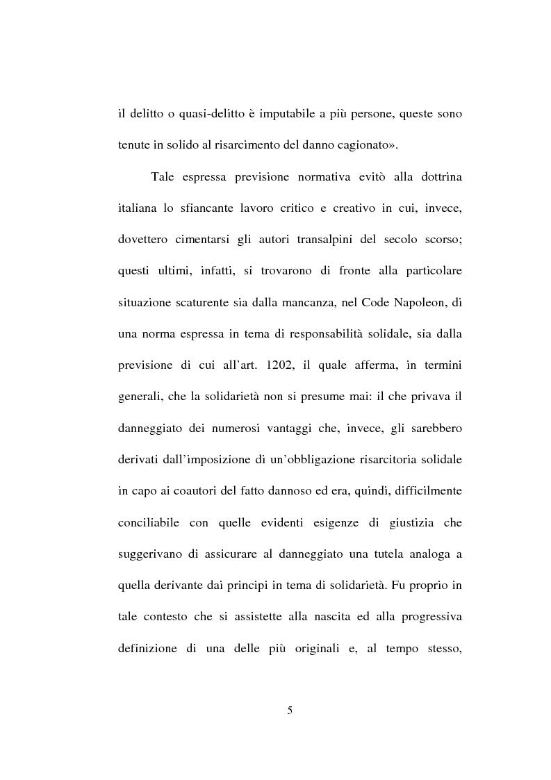 Anteprima della tesi: La responsabilità solidale per fatto illecito, Pagina 3