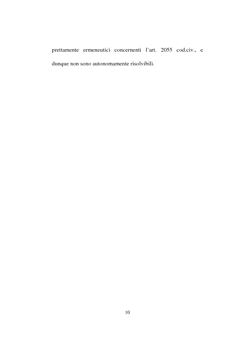 Anteprima della tesi: La responsabilità solidale per fatto illecito, Pagina 8