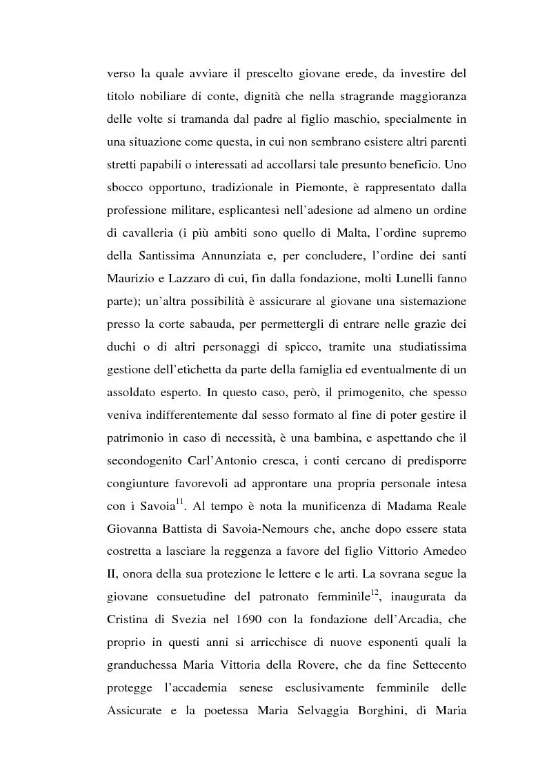 Anteprima della tesi: Una dama in Parnaso: l'arcade piemontese Benedetta Clotilde Lunelli Spinola (1700-1774), Pagina 10