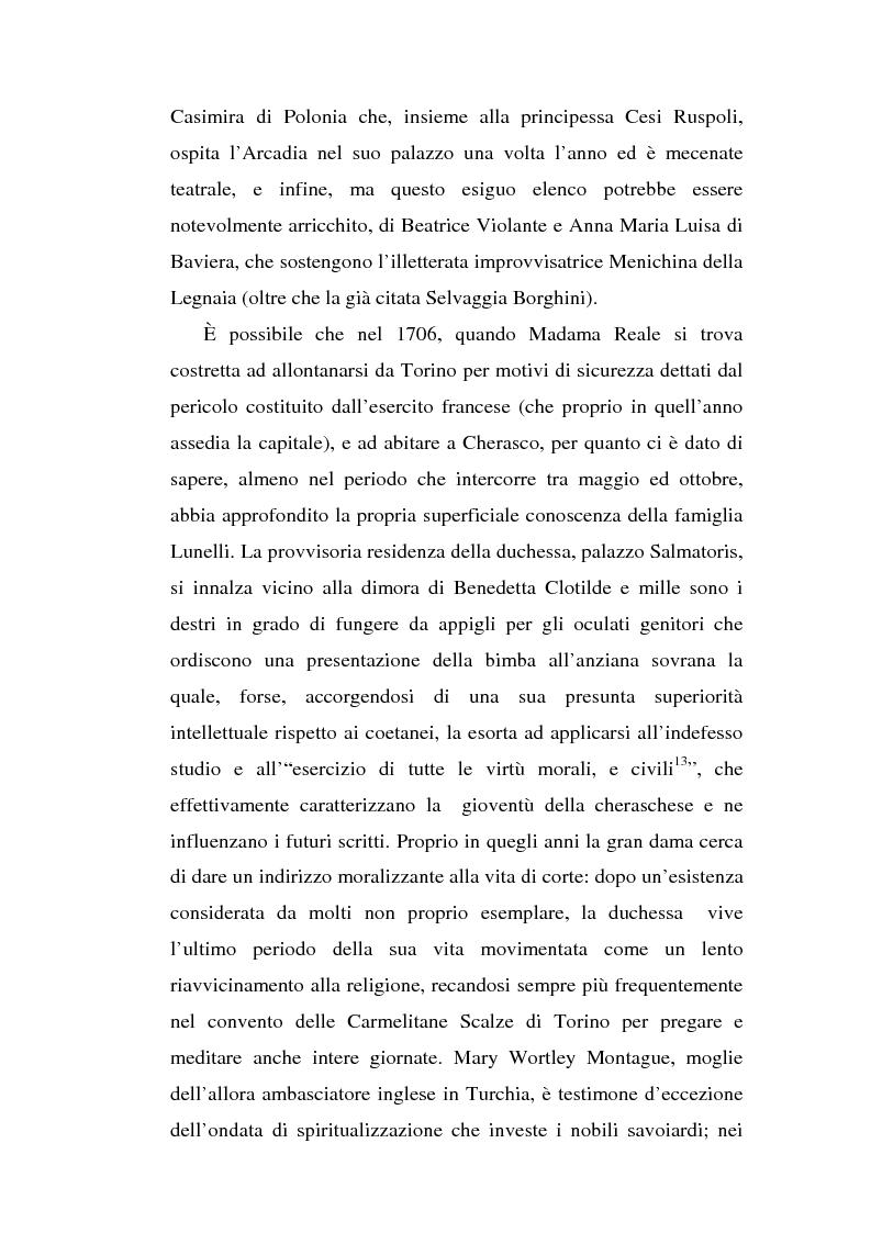 Anteprima della tesi: Una dama in Parnaso: l'arcade piemontese Benedetta Clotilde Lunelli Spinola (1700-1774), Pagina 11
