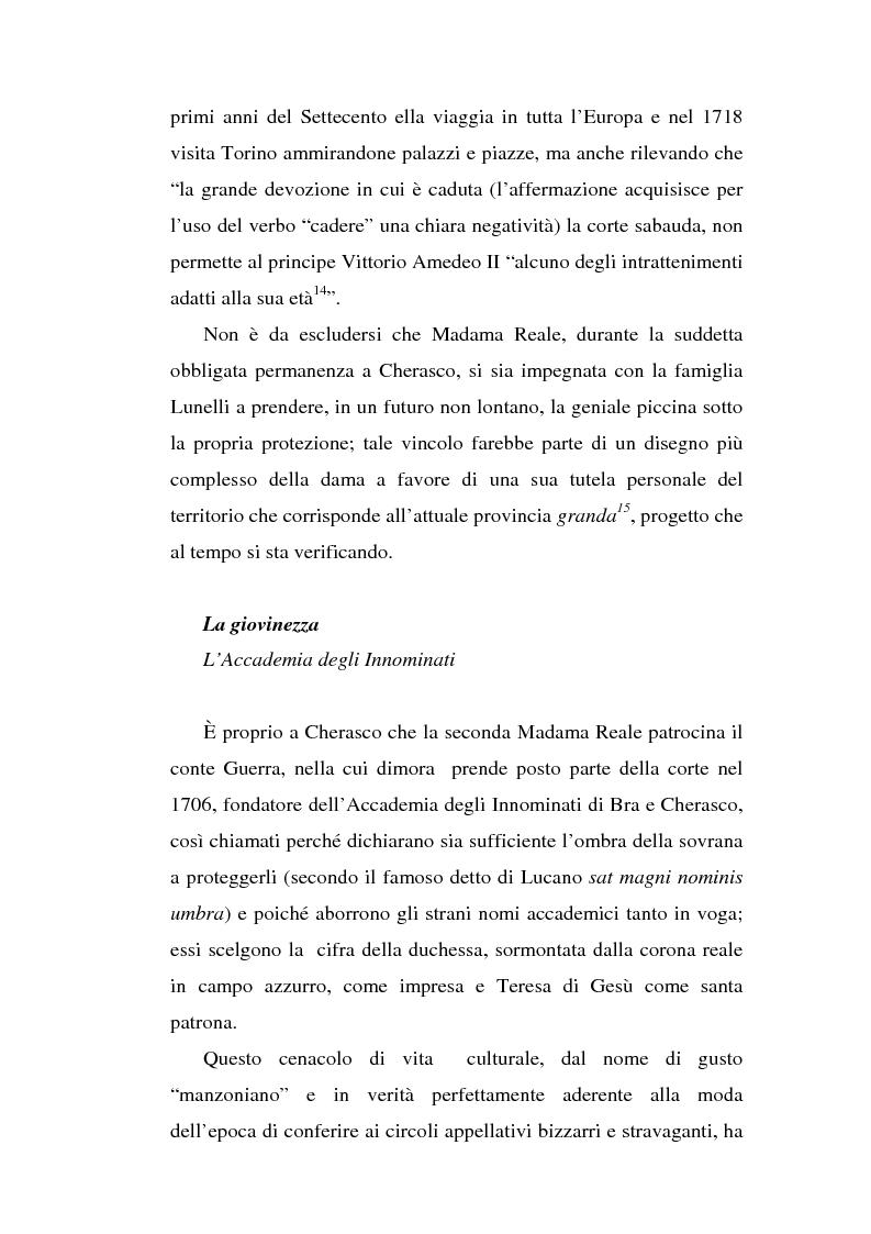 Anteprima della tesi: Una dama in Parnaso: l'arcade piemontese Benedetta Clotilde Lunelli Spinola (1700-1774), Pagina 12