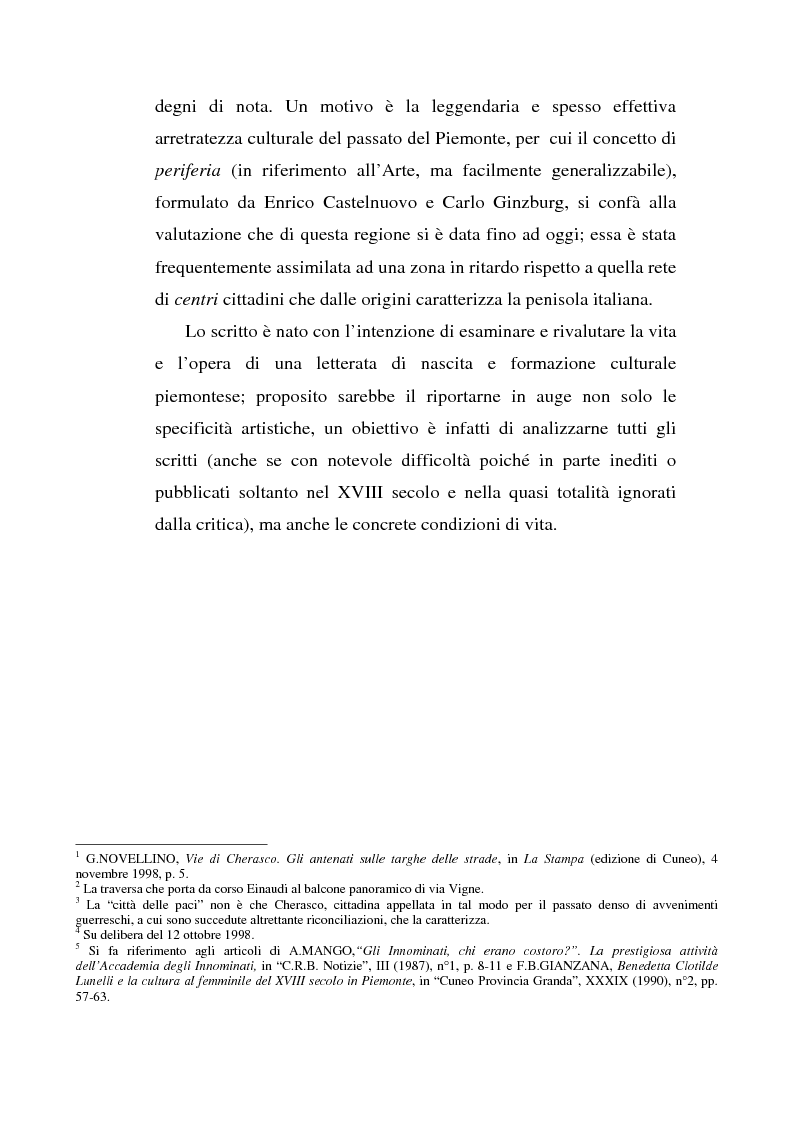 Anteprima della tesi: Una dama in Parnaso: l'arcade piemontese Benedetta Clotilde Lunelli Spinola (1700-1774), Pagina 2