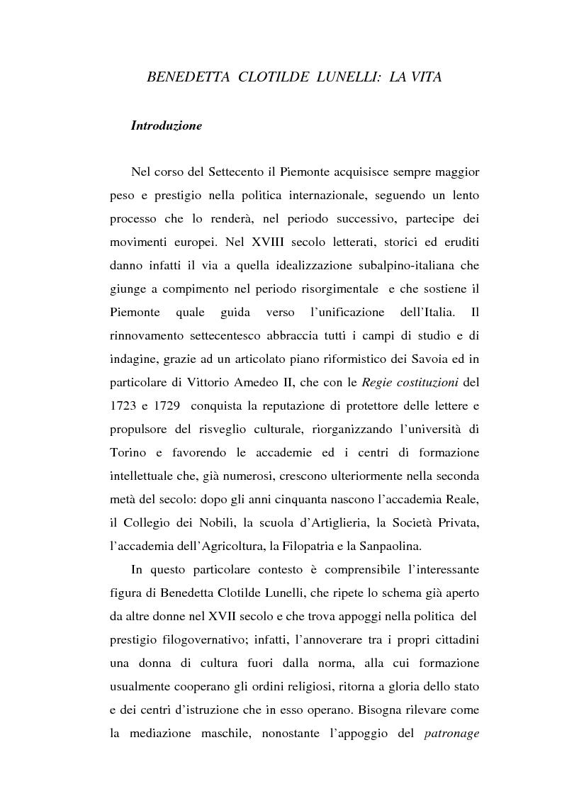 Anteprima della tesi: Una dama in Parnaso: l'arcade piemontese Benedetta Clotilde Lunelli Spinola (1700-1774), Pagina 3