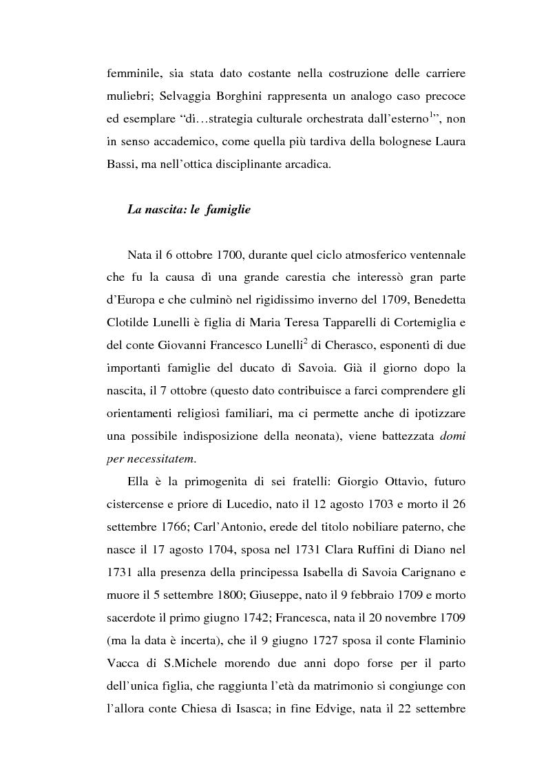 Anteprima della tesi: Una dama in Parnaso: l'arcade piemontese Benedetta Clotilde Lunelli Spinola (1700-1774), Pagina 4