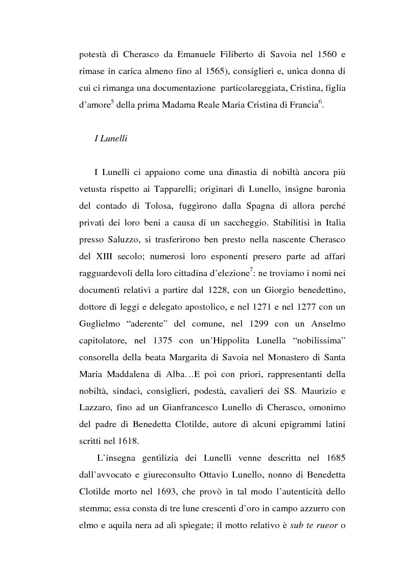 Anteprima della tesi: Una dama in Parnaso: l'arcade piemontese Benedetta Clotilde Lunelli Spinola (1700-1774), Pagina 6