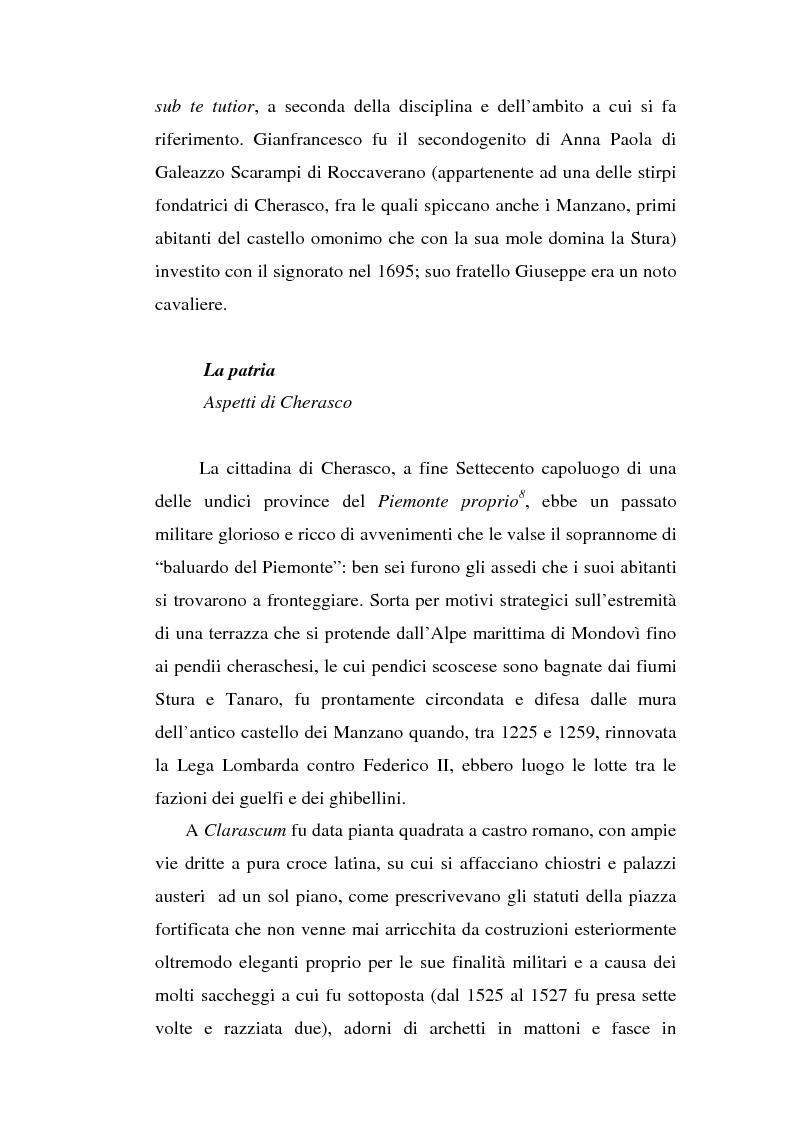 Anteprima della tesi: Una dama in Parnaso: l'arcade piemontese Benedetta Clotilde Lunelli Spinola (1700-1774), Pagina 7