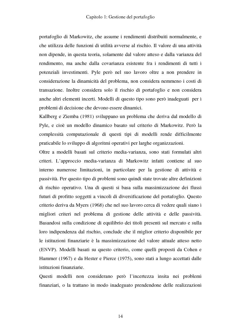 Anteprima della tesi: Gestione del portafoglio: generazione di scenari e applicazioni al mercato azionario italiano, Pagina 10