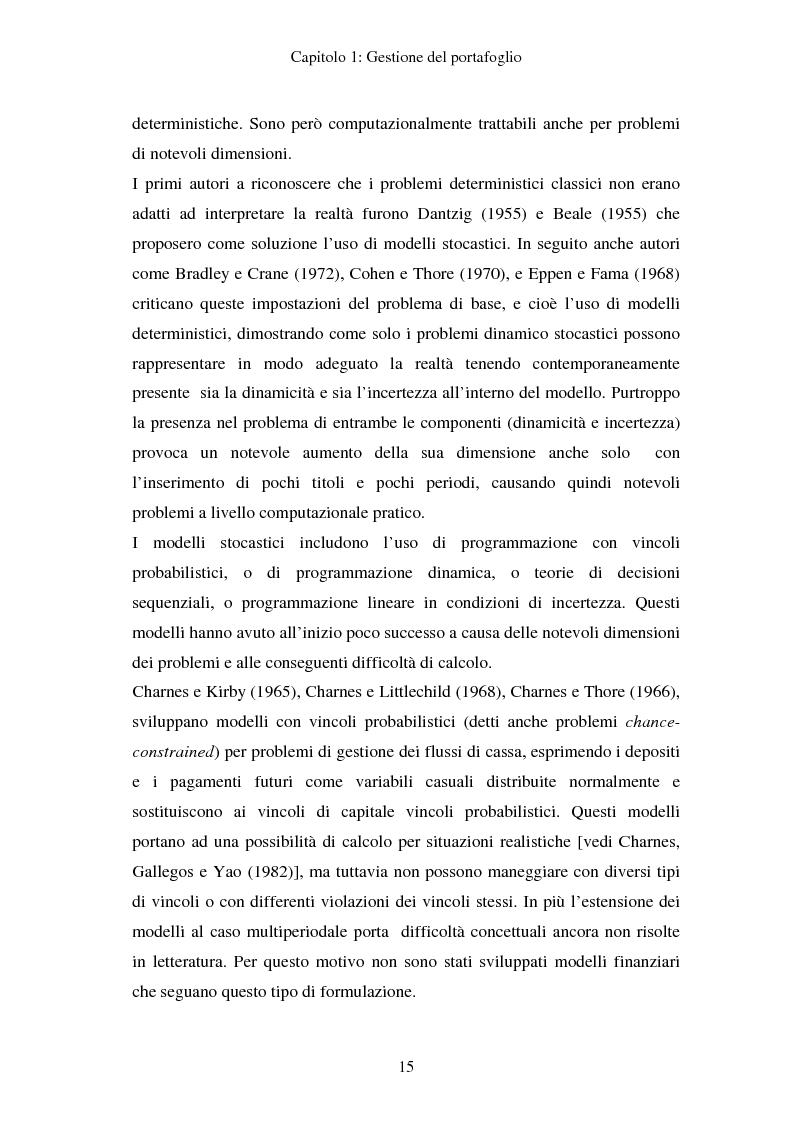 Anteprima della tesi: Gestione del portafoglio: generazione di scenari e applicazioni al mercato azionario italiano, Pagina 11