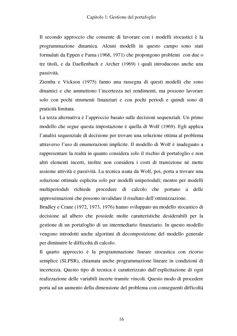 Anteprima della tesi: Gestione del portafoglio: generazione di scenari e applicazioni al mercato azionario italiano, Pagina 12