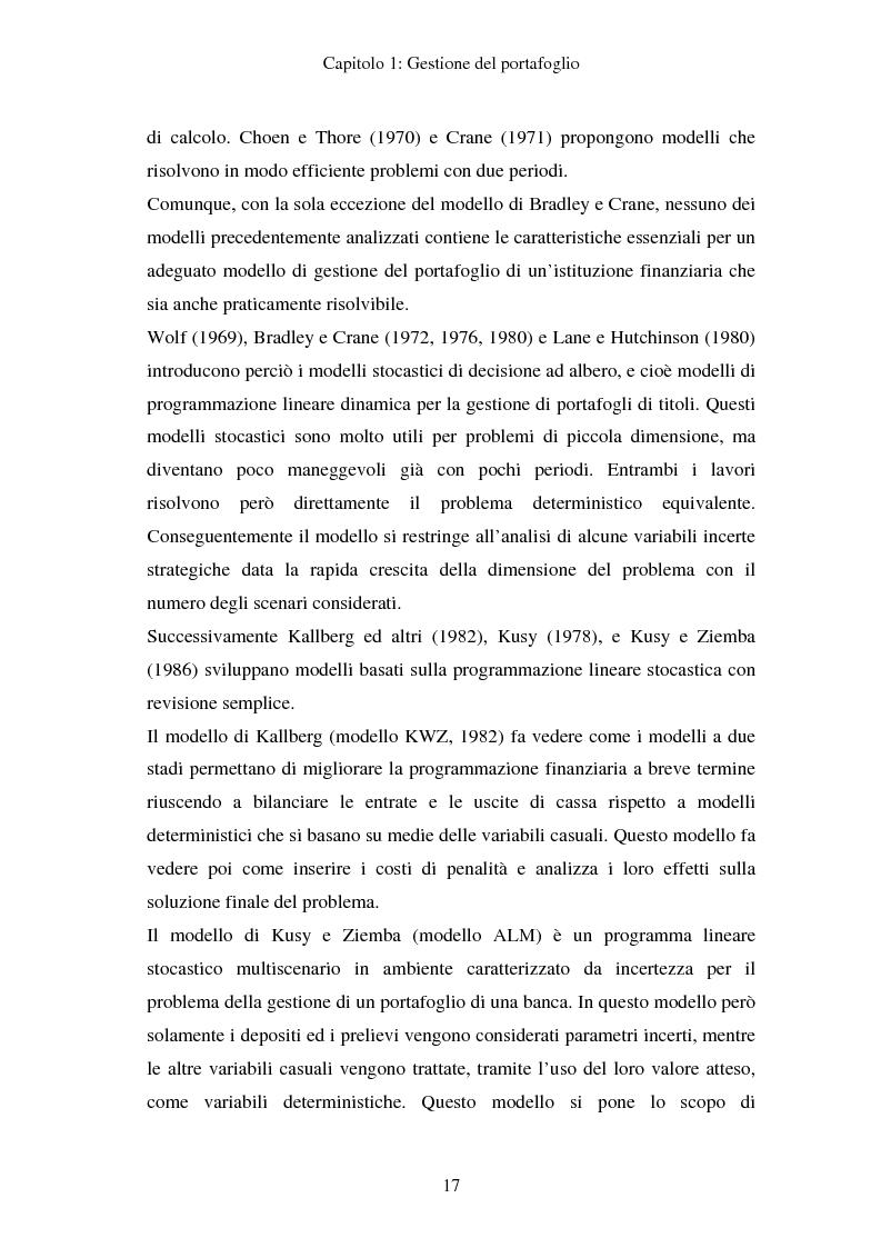 Anteprima della tesi: Gestione del portafoglio: generazione di scenari e applicazioni al mercato azionario italiano, Pagina 13