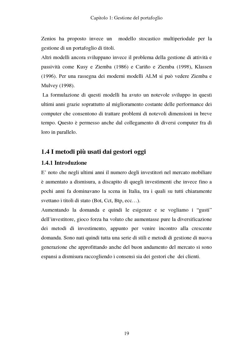 Anteprima della tesi: Gestione del portafoglio: generazione di scenari e applicazioni al mercato azionario italiano, Pagina 15