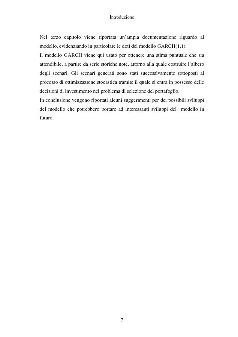 Anteprima della tesi: Gestione del portafoglio: generazione di scenari e applicazioni al mercato azionario italiano, Pagina 3