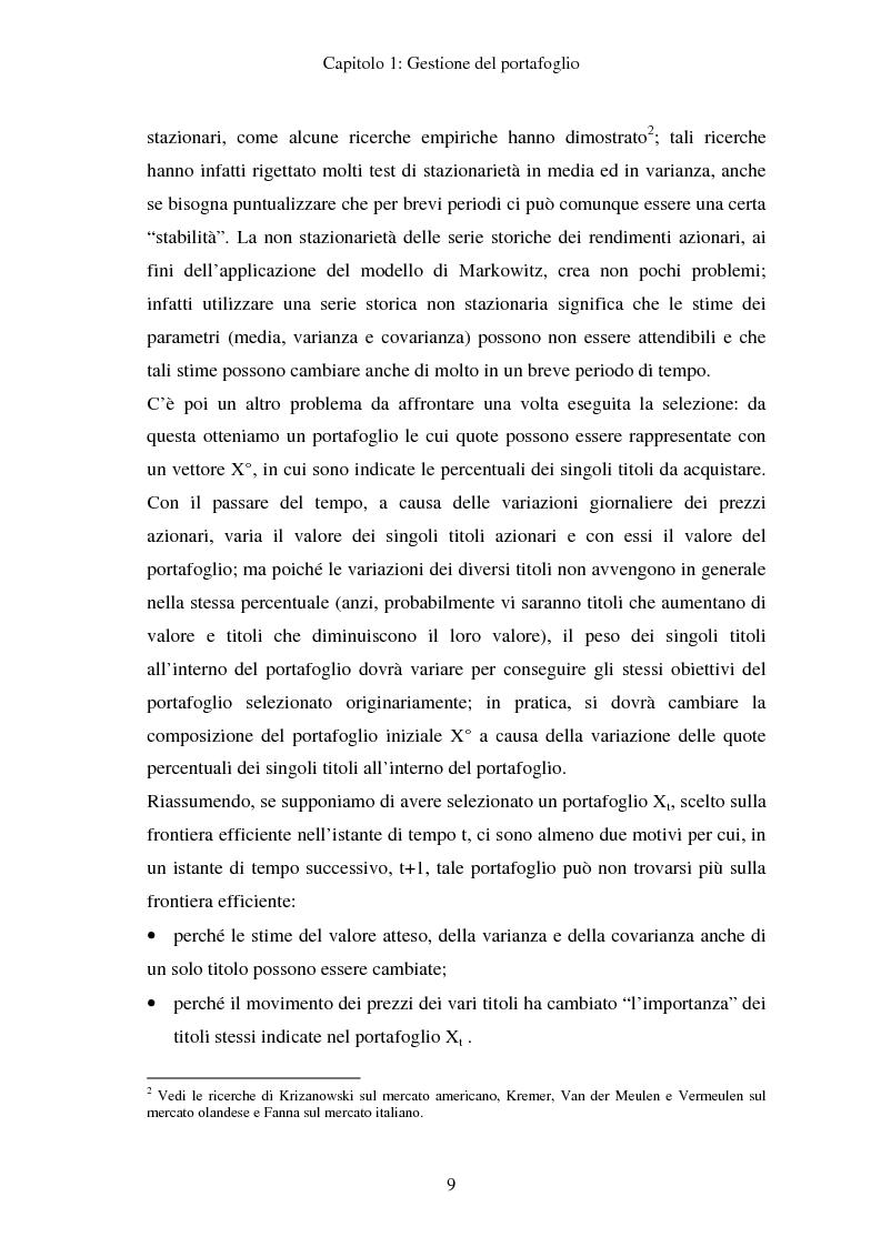 Anteprima della tesi: Gestione del portafoglio: generazione di scenari e applicazioni al mercato azionario italiano, Pagina 5