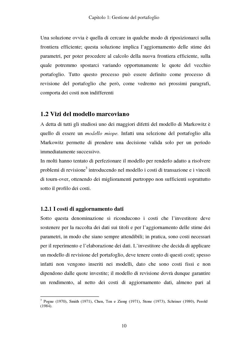 Anteprima della tesi: Gestione del portafoglio: generazione di scenari e applicazioni al mercato azionario italiano, Pagina 6