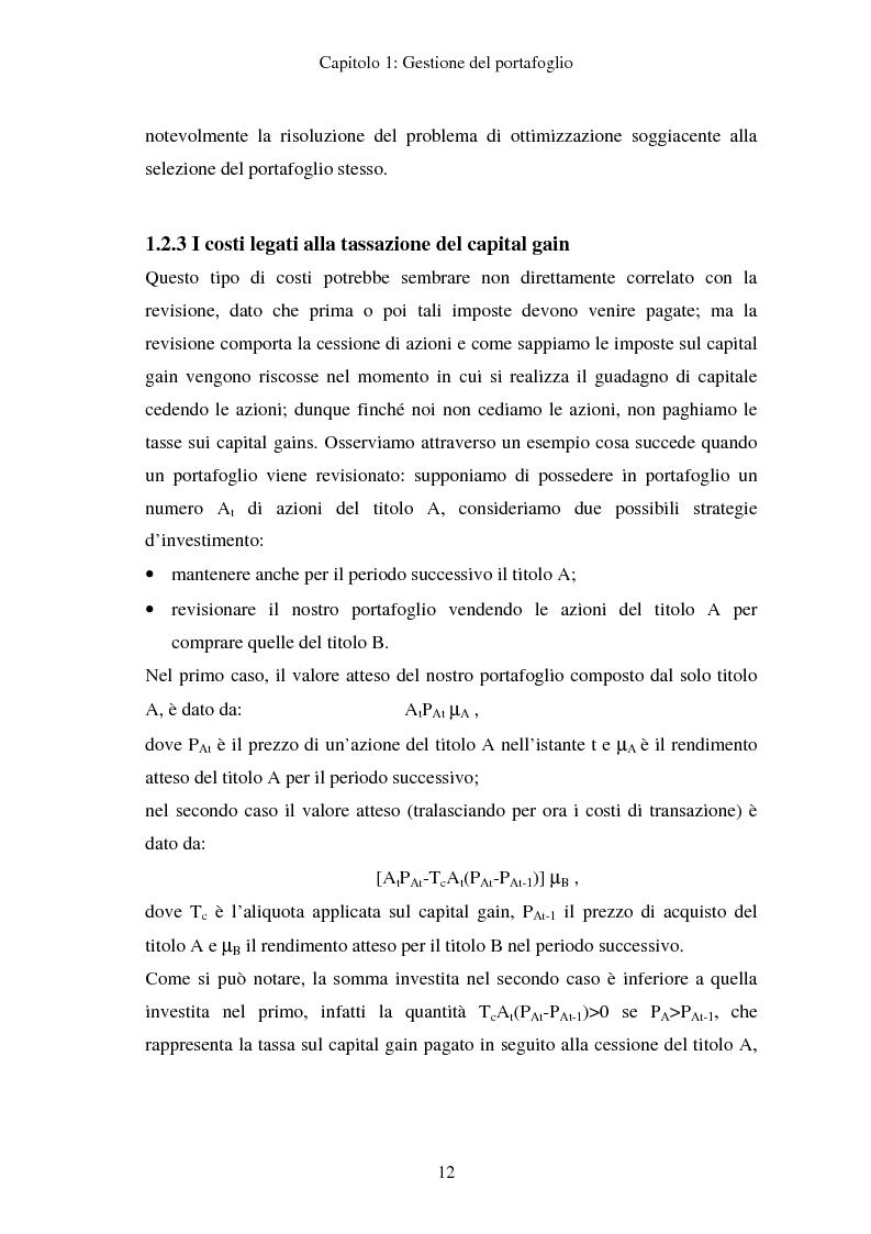 Anteprima della tesi: Gestione del portafoglio: generazione di scenari e applicazioni al mercato azionario italiano, Pagina 8