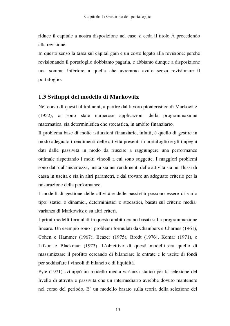 Anteprima della tesi: Gestione del portafoglio: generazione di scenari e applicazioni al mercato azionario italiano, Pagina 9