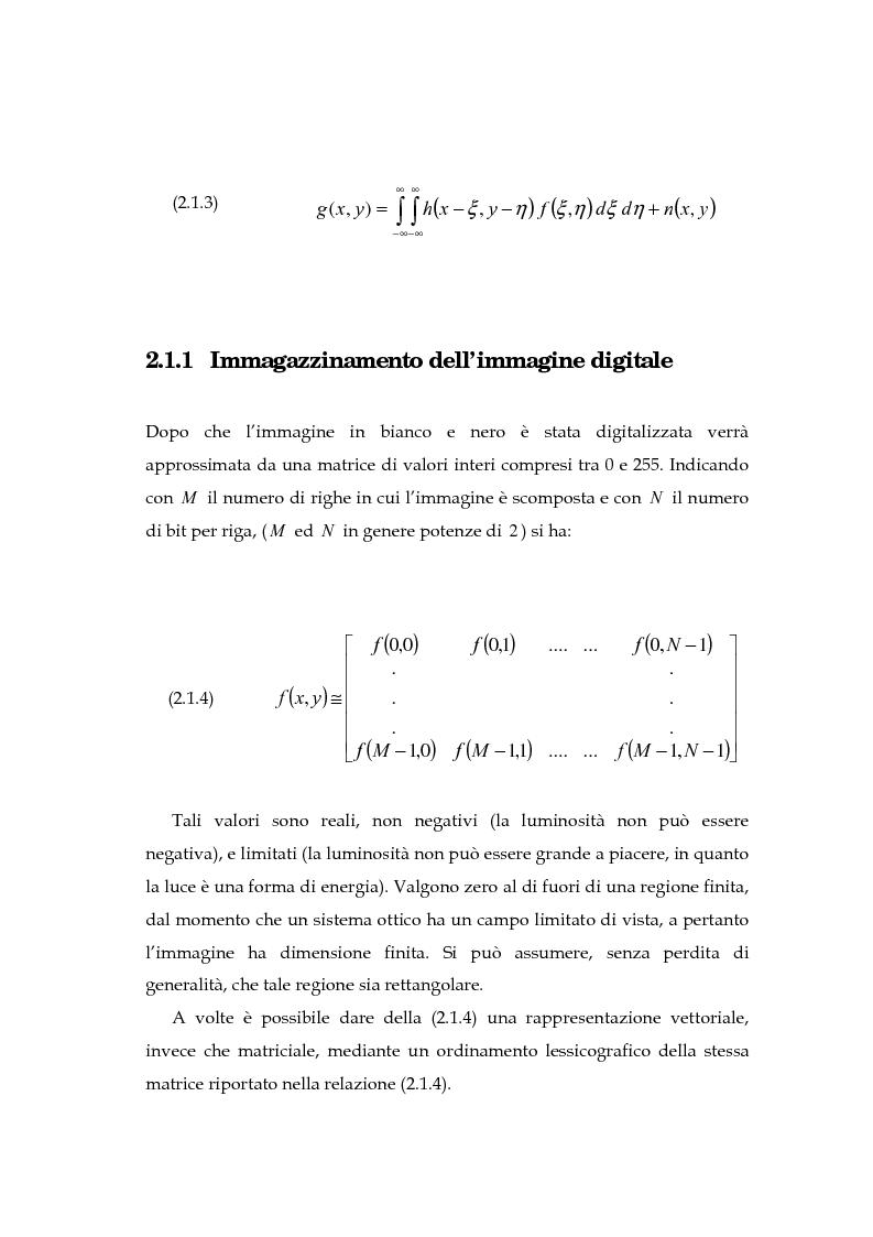 Anteprima della tesi: Il problema della rifocalizzazione di immagini digitali in presenza di rumore, Pagina 14