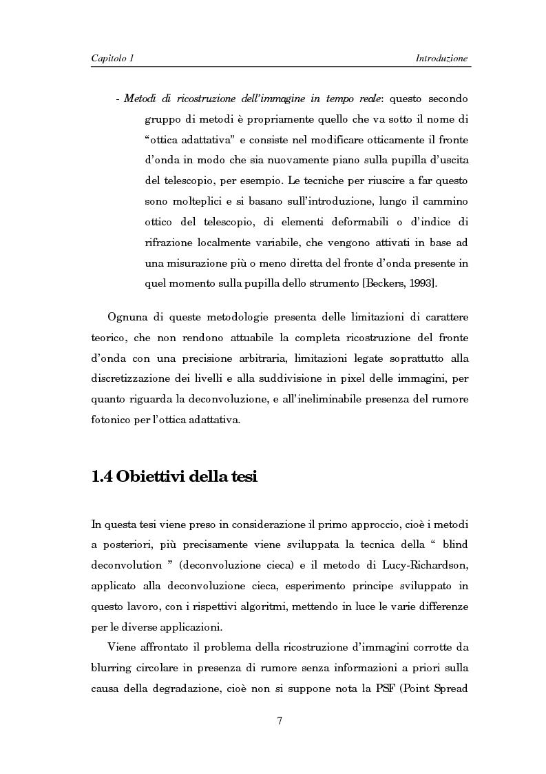 Anteprima della tesi: Il problema della rifocalizzazione di immagini digitali in presenza di rumore, Pagina 7
