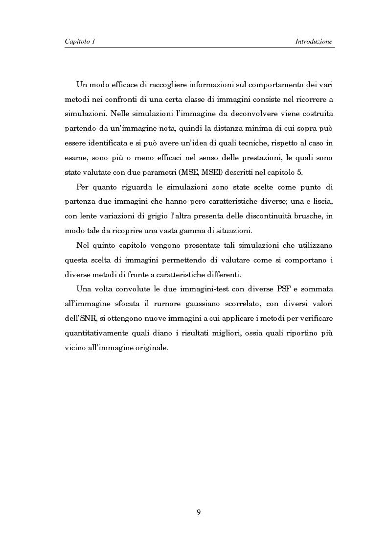 Anteprima della tesi: Il problema della rifocalizzazione di immagini digitali in presenza di rumore, Pagina 9
