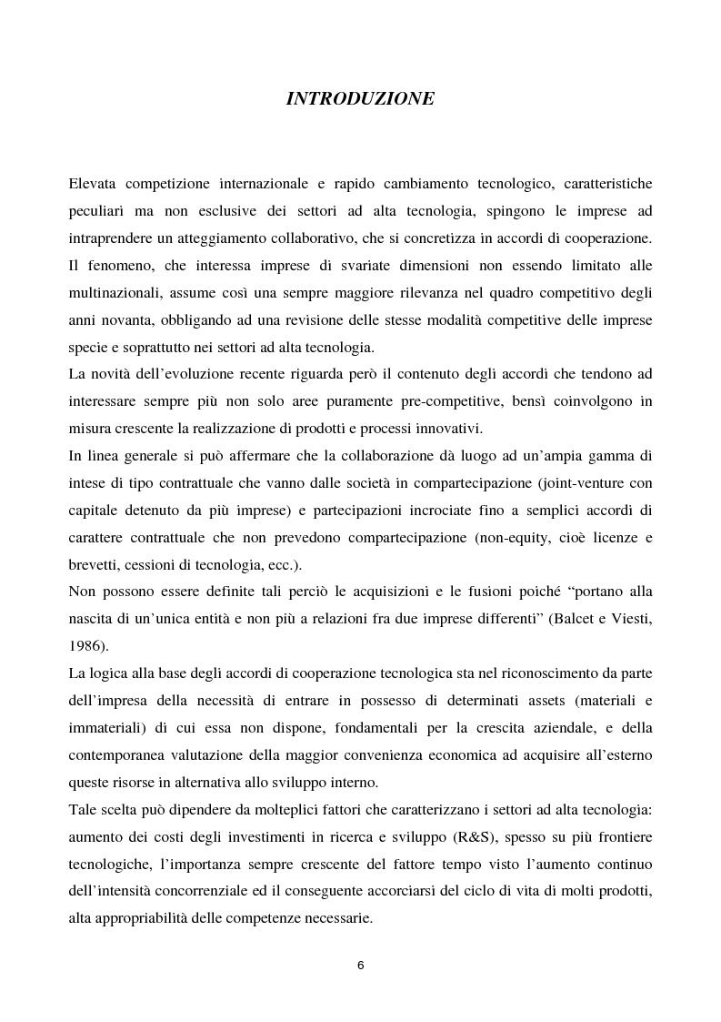 Anteprima della tesi: La cooperazione tra imprese nella ricerca: un'analisi reticolare, Pagina 1