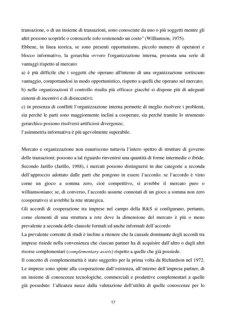 Anteprima della tesi: La cooperazione tra imprese nella ricerca: un'analisi reticolare, Pagina 12