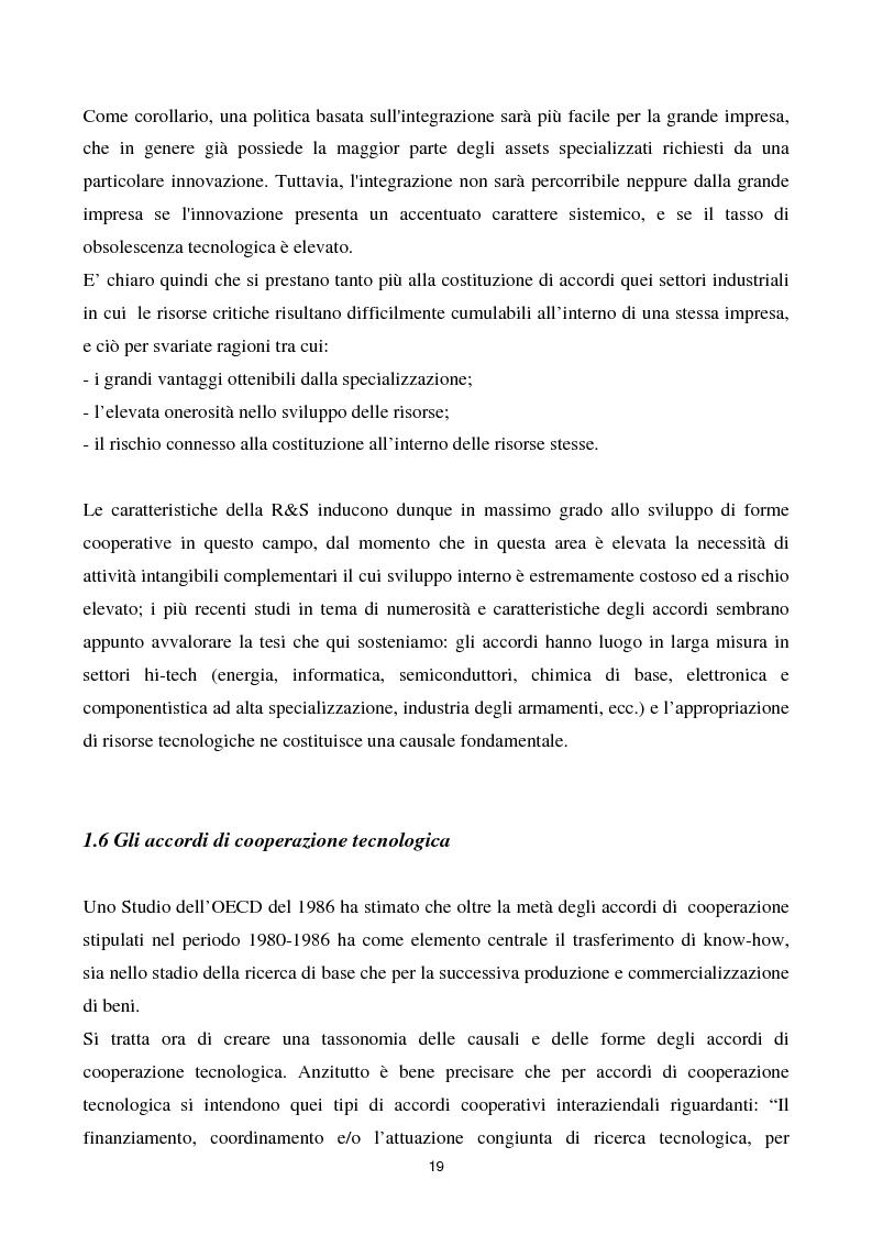Anteprima della tesi: La cooperazione tra imprese nella ricerca: un'analisi reticolare, Pagina 14
