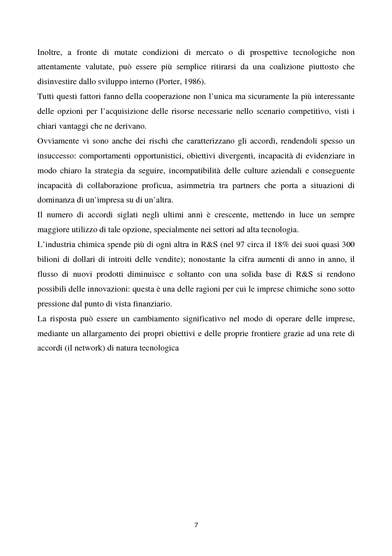 Anteprima della tesi: La cooperazione tra imprese nella ricerca: un'analisi reticolare, Pagina 2