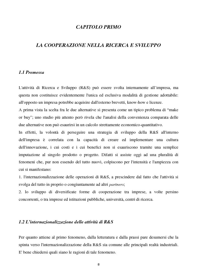 Anteprima della tesi: La cooperazione tra imprese nella ricerca: un'analisi reticolare, Pagina 3