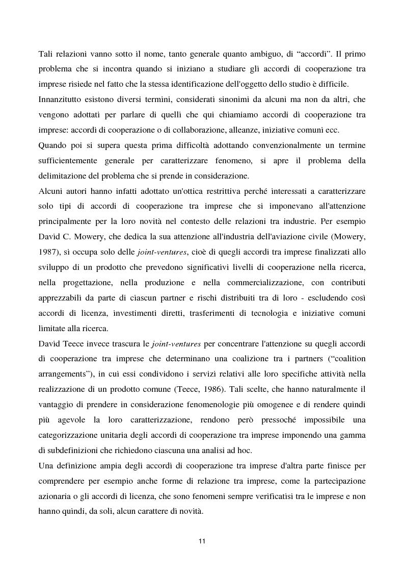 Anteprima della tesi: La cooperazione tra imprese nella ricerca: un'analisi reticolare, Pagina 6