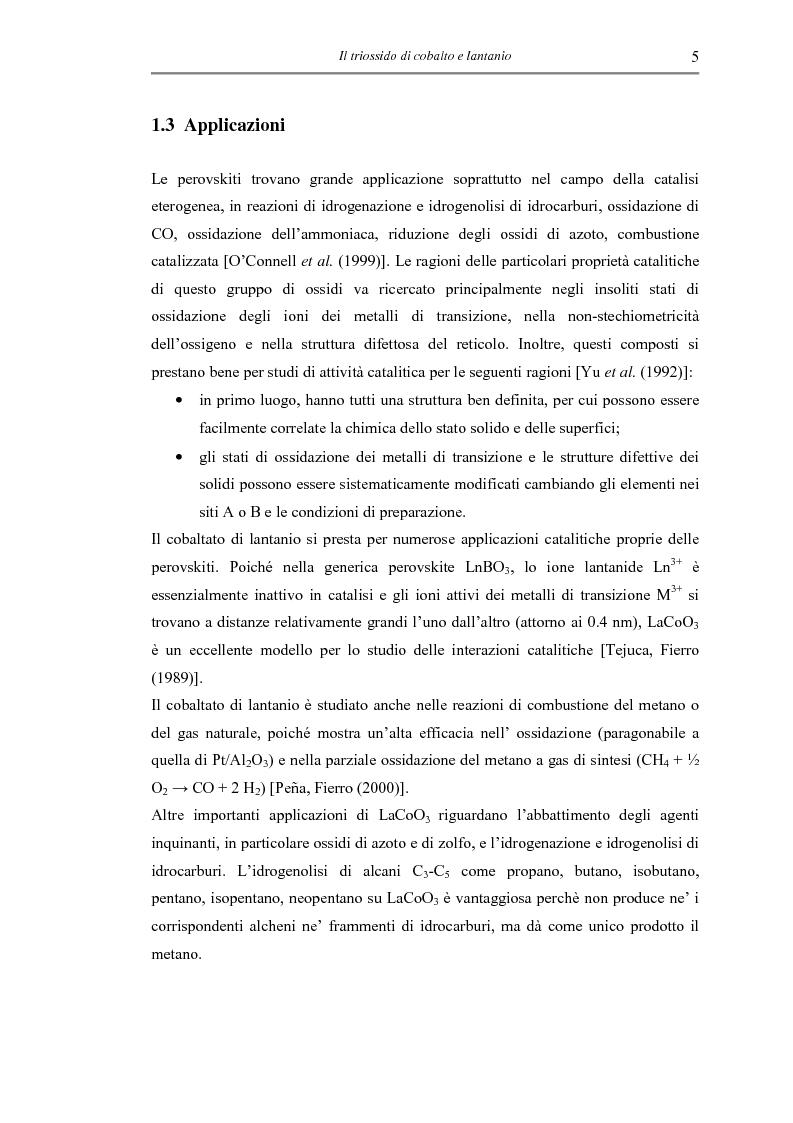 Anteprima della tesi: Sintesi di triossido di cobalto e lantanio mediante processi sol-gel, Pagina 8