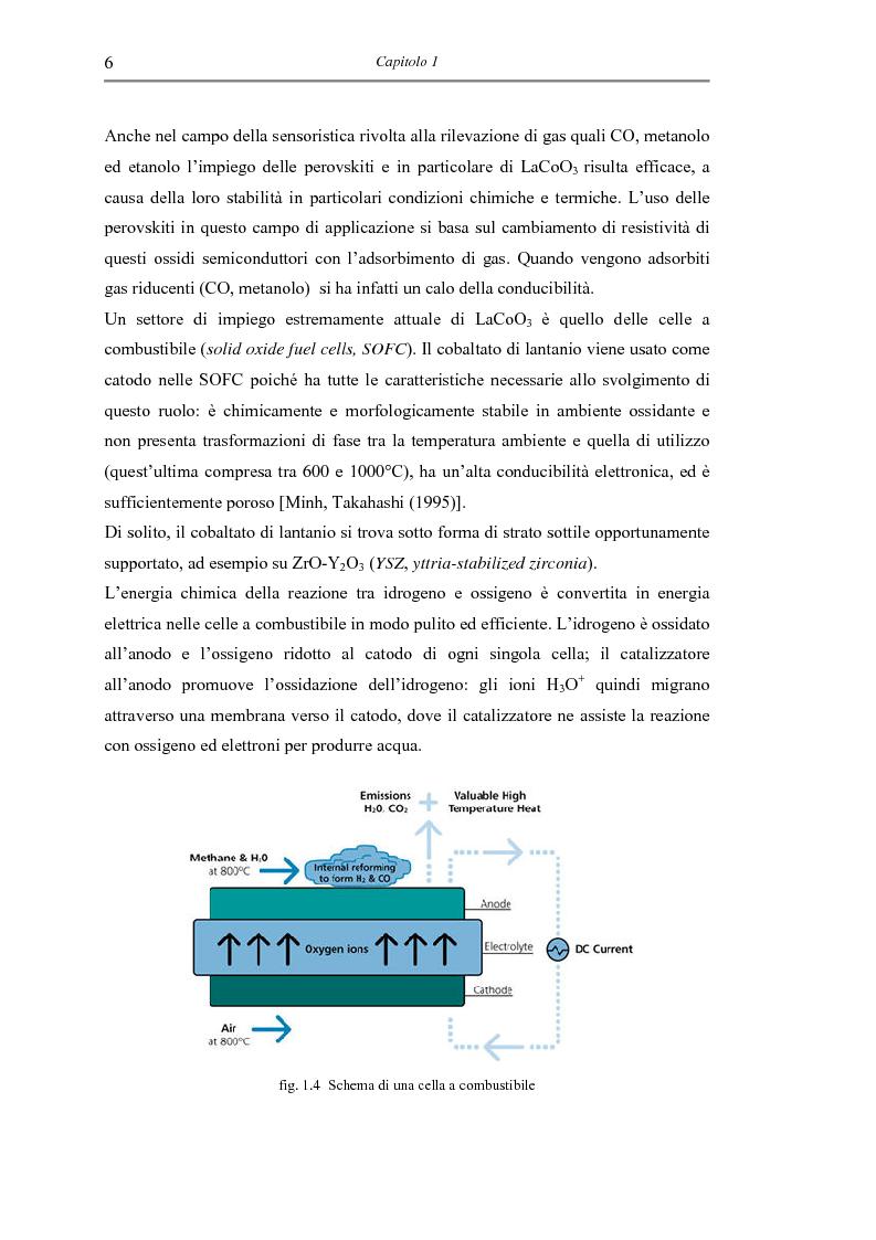 Anteprima della tesi: Sintesi di triossido di cobalto e lantanio mediante processi sol-gel, Pagina 9