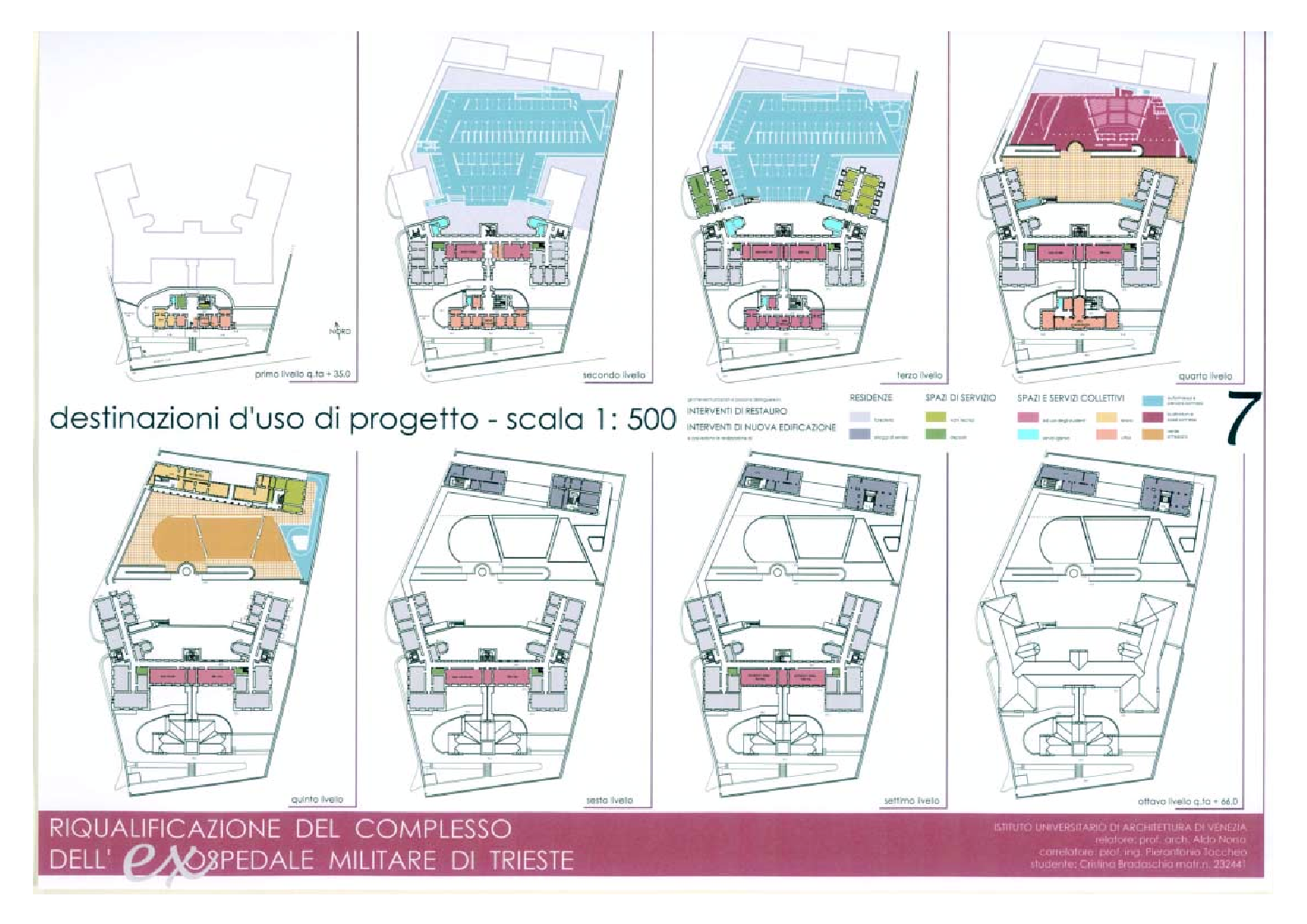 Anteprima della tesi: Riqualificazione del complesso dell'ex ospedale militare di Trieste, Pagina 3