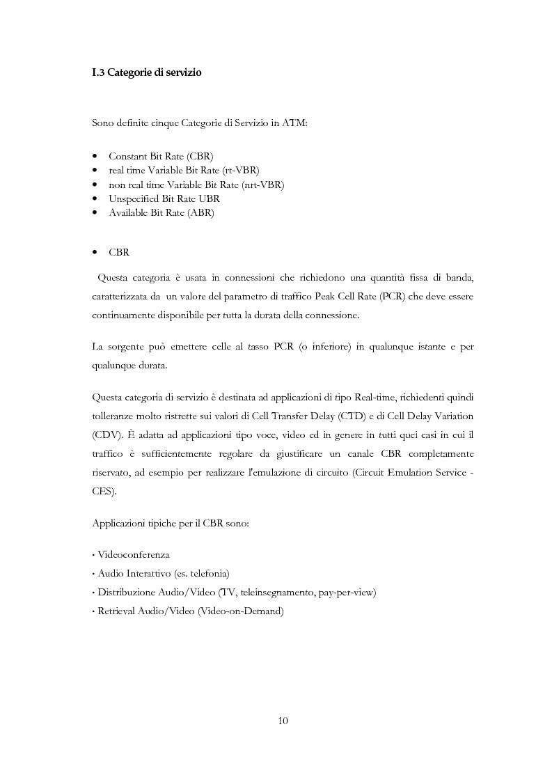 Anteprima della tesi: Sviluppo di un applicativo software per la gestione dello switch ATM Alcatel 7470 MSP e monitoraggio della rete tramite protocollo SNMP, Pagina 6