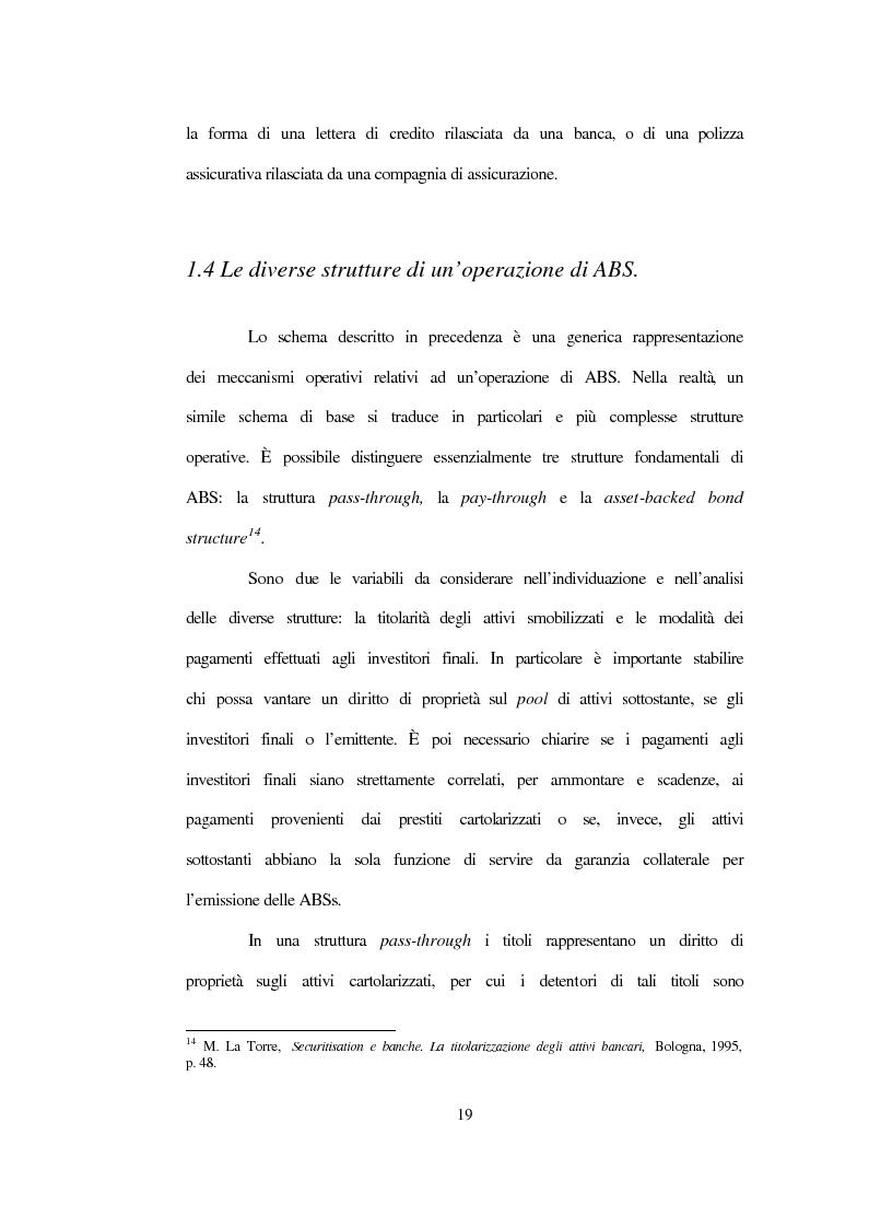 Anteprima della tesi: La nuova disciplina sulla cartolarizzazione dei crediti, Pagina 15