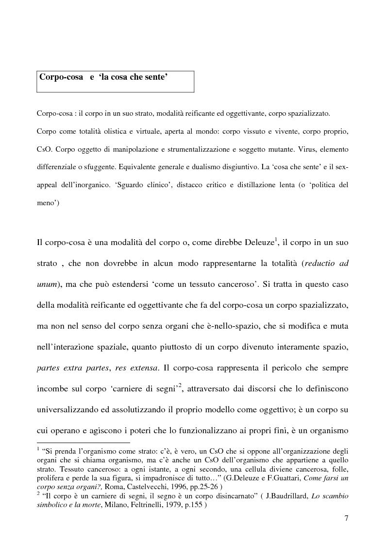Anteprima della tesi: Corpo organico e corpo inorganico nel cinema di David Cronenberg, Pagina 5