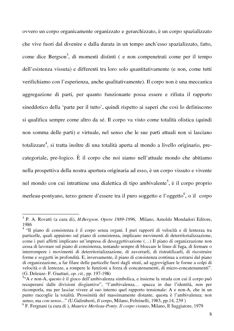 Anteprima della tesi: Corpo organico e corpo inorganico nel cinema di David Cronenberg, Pagina 6