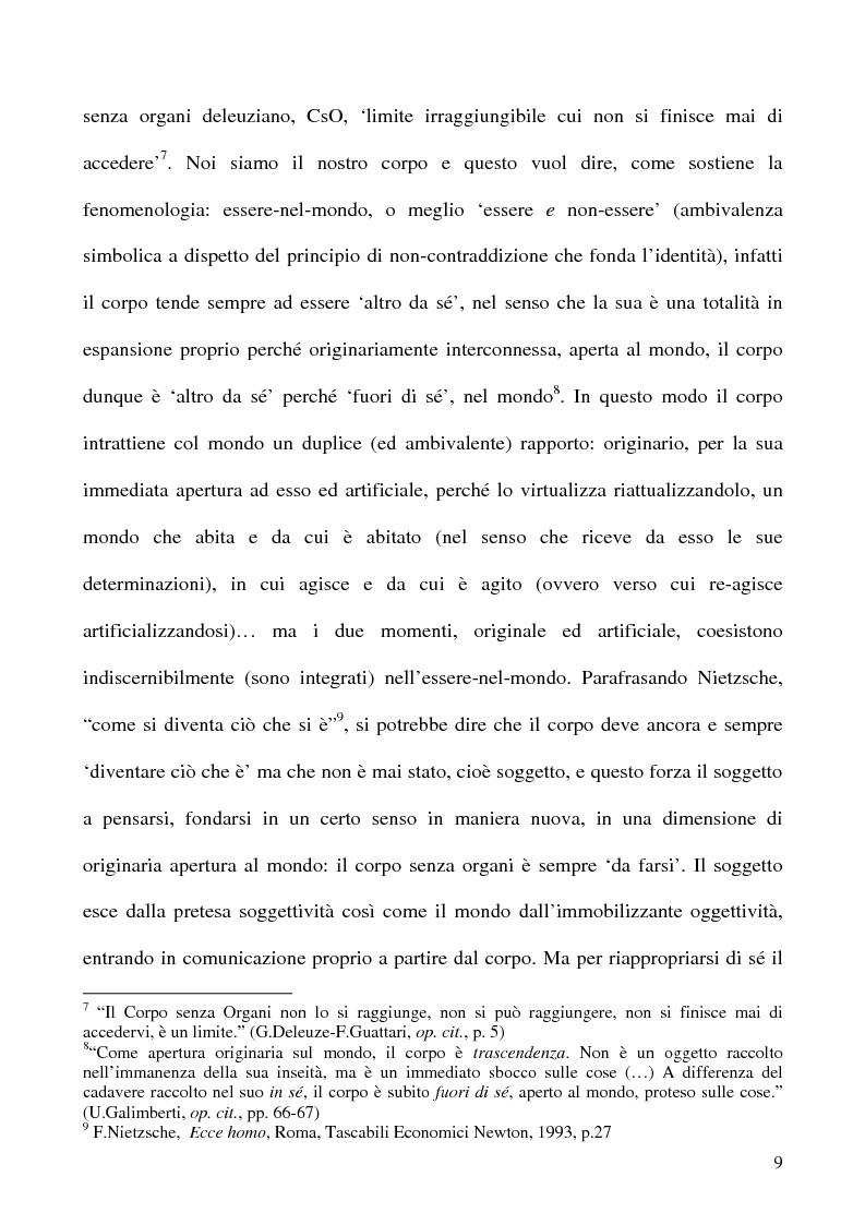 Anteprima della tesi: Corpo organico e corpo inorganico nel cinema di David Cronenberg, Pagina 7