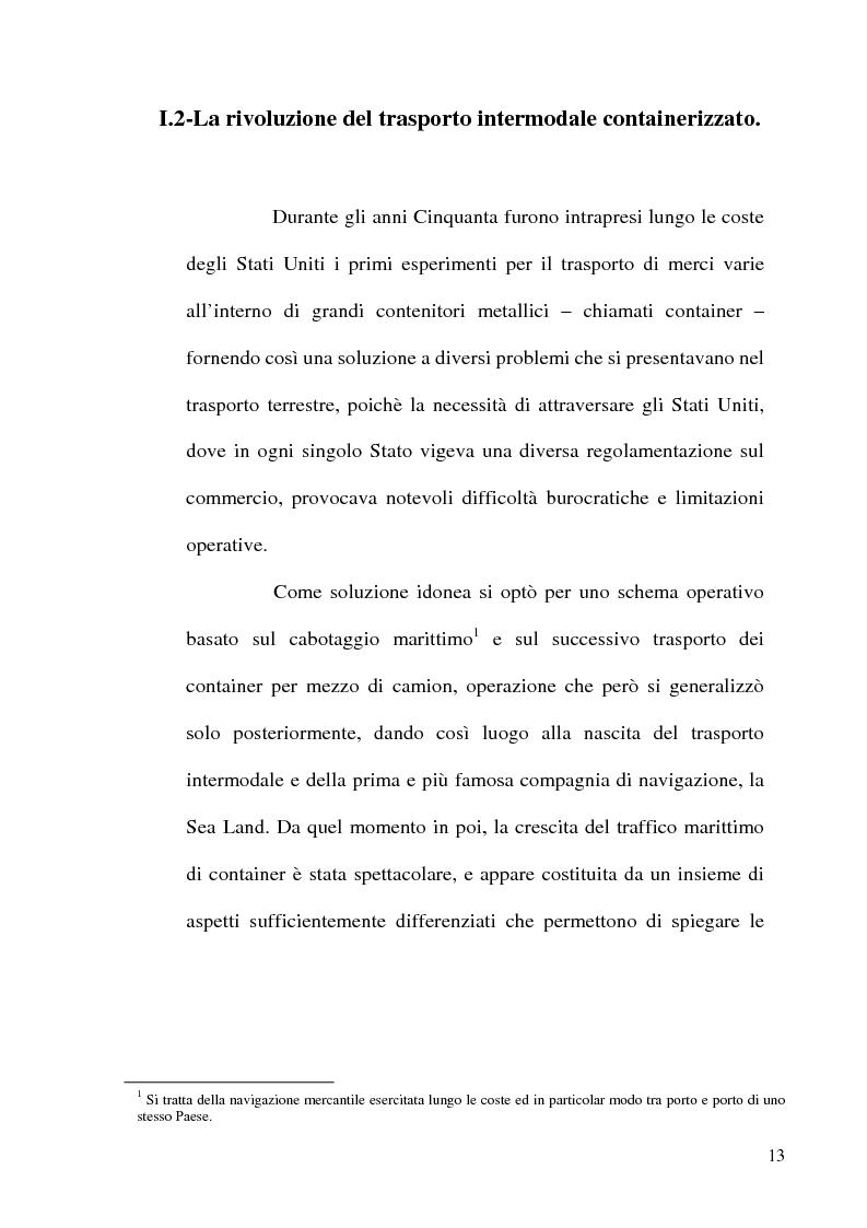 Anteprima della tesi: I porti commerciali della Comunidad Valenciana tra concorrenza e specializzazione, Pagina 14