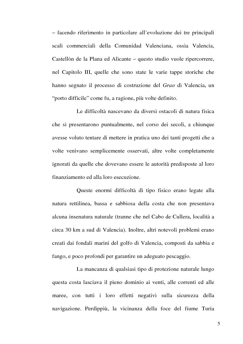 Anteprima della tesi: I porti commerciali della Comunidad Valenciana tra concorrenza e specializzazione, Pagina 5