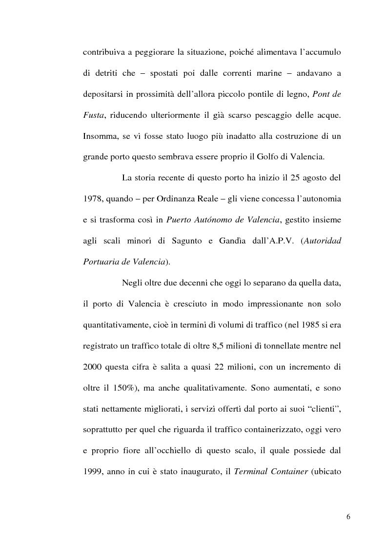 Anteprima della tesi: I porti commerciali della Comunidad Valenciana tra concorrenza e specializzazione, Pagina 6