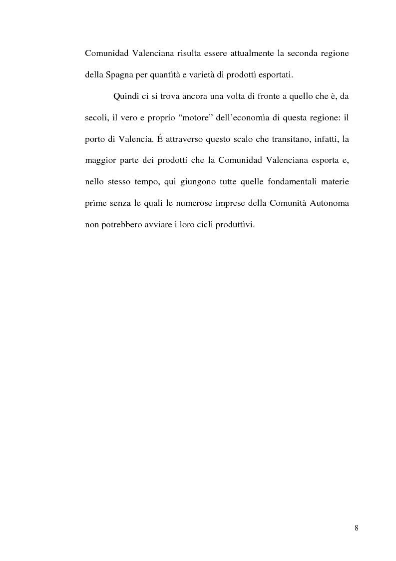 Anteprima della tesi: I porti commerciali della Comunidad Valenciana tra concorrenza e specializzazione, Pagina 8