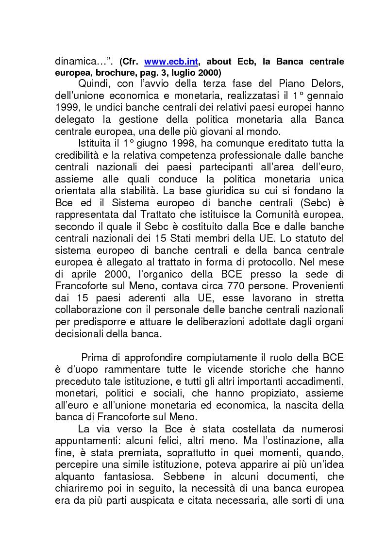 Anteprima della tesi: La BCE (Banca Centrale Europea), Pagina 2