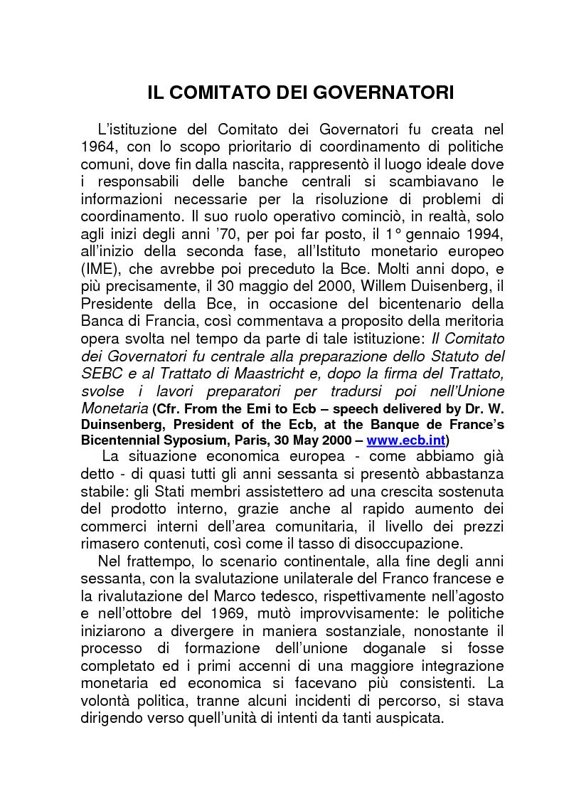 Anteprima della tesi: La BCE (Banca Centrale Europea), Pagina 9