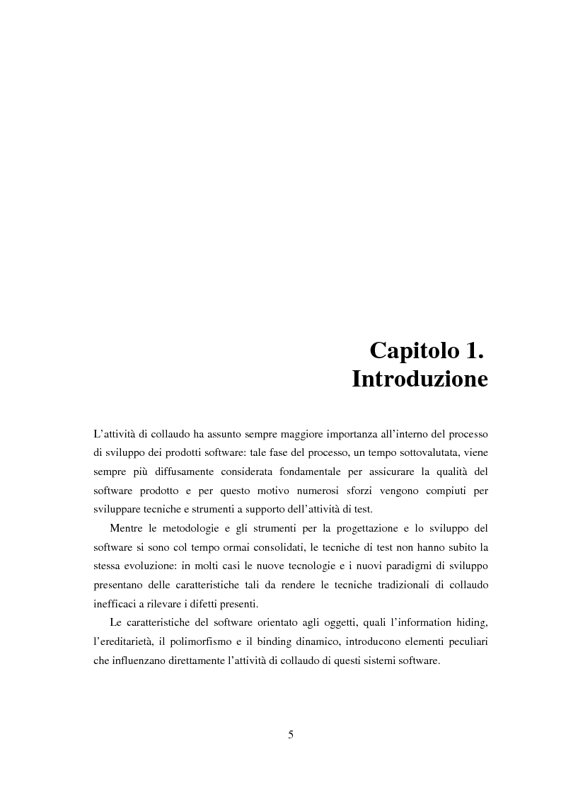 Anteprima della tesi: Una tecnica per il test interclasse, Pagina 1