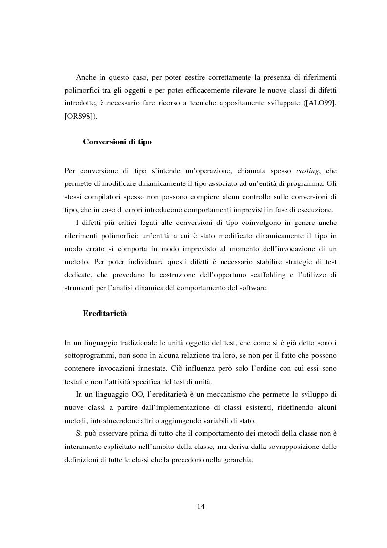 Anteprima della tesi: Una tecnica per il test interclasse, Pagina 10